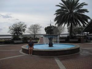 Fountain in the Saint Marys Georgia town park